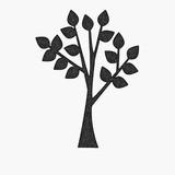 Stylized tree icon