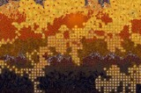 Wide abstract background in Gustav Klimt style