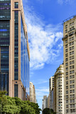 Rio Branco avenue, one of the main avenues and financial center of the city of Rio de Janeiro