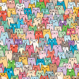 Cats seamless pattern - 136140767