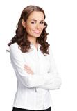 happy smiling businesswoman, isolated