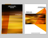 Vector brochure cover templates with a blurred effect. EPS10