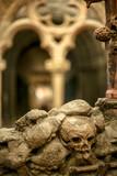 Skulls in cemetery Cript