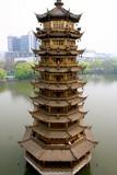 Sun Pagoda as seen from Moon Pagoda