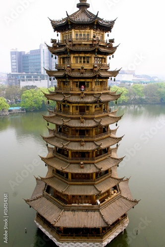 Sun Pagoda as seen from Moon Pagoda