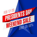 Presidents day weekend sale banner