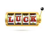 Luck word on slot machine