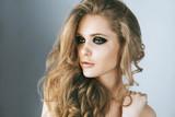 Beauty fashion model  face close up