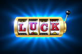 Slot machine with luck word