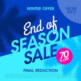 Winter offer end of season sale banner