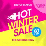 End of season hot winter sale banner