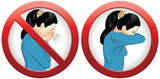 This vector illustration explains, if we sneeze we should cover our mouths with arm, instead of hands. Its more healthy for us, for population.