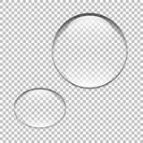 Water drop. Glass sphere. Bubble. Vector illustration - 136163511