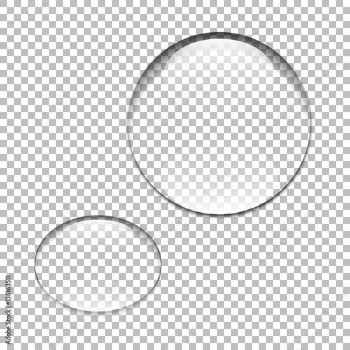 Kropla wody. Szklana kula. Bańka. Ilustracji wektorowych