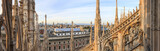 Panoramic view of Milan from the Dome, Italy