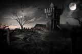 Chateau hanté médiéval vieille tour