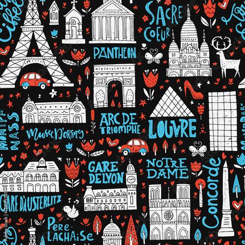Tapeta France Seamless Pattern