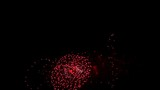 Celebratory Fireworks display Alpha Matte, slow motion