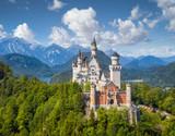 Fototapety Neuschwanstein Castle in summer, Bavaria, Germany