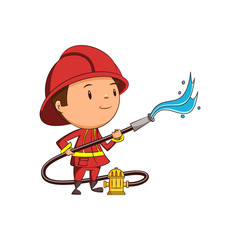 Child firefighter