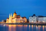 Budapest Parliament at Dusk, Hungary