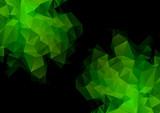 Green explosion polygonal illustration. Geometric background. Tr