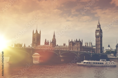 Poster London Big Ben Sunset