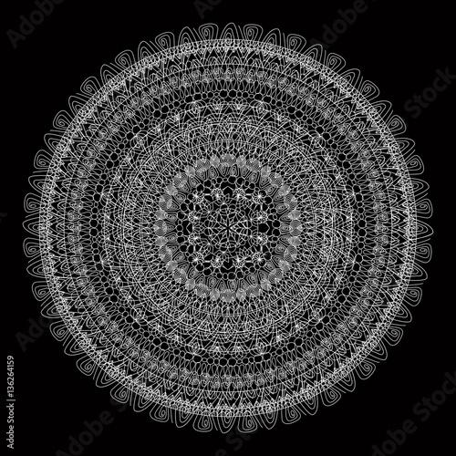 Vector  concentric mandala - 136264159