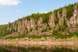 Fantastical cliffs on the river. Krasnoyarsk territory