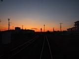 夕焼けと線路