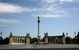 The Heroes Square, a monument to a millennium of Hungary in Budapest