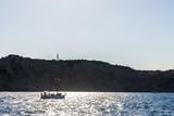 Sailboats sailing at the Costa Brava, Spain