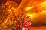 grand bouddha doré couché, temple de Wat Pho Bangkok, Thaïlande