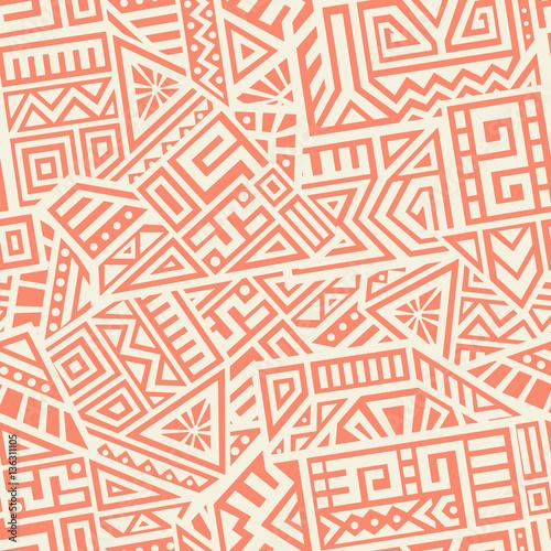 obraz lub plakat Aztec Vector Seamless Pattern