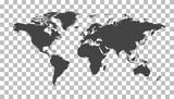 Blank black world ma...