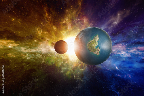 Foto op Canvas Sci-fi background - discovered Earth-like potentially habitable