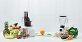 Fresh fruit, vegetables and juicers