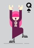 Rocker Girl Vector Illustration
