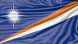 Flag of the Marshall Islands, 3d illustration with fabric texture