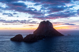 View from Ibiza to Es Vedra and Es Vedranell, Balearic Islands,
