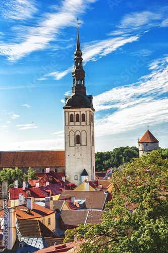 In old town Tallinn in summer day Poster