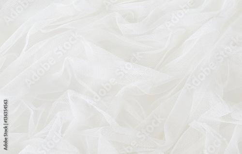 White tulle drapery