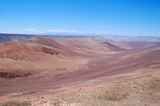 Panorama over the dry landscape of the Atacama desert