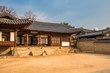 A korean traditional building inside the UNESCO World Heritage Site of Changdeokgung Palace in Seoul