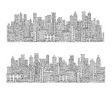 City skyline. Hand drawn illustration - 136373385