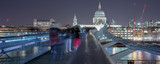 The Millennium bridge with St Pauls Cathedral in the background - 136375549