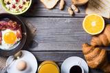 Breakfast with eggs - 136382325