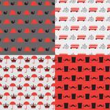 set of cartoon british patterns - 136384599