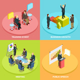Business Learning Isometric Concept
