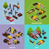 Sawmill 2x2 Isometric Design Concept